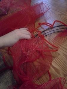 vday bunching mesh