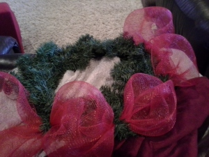 xmas wreath beginning