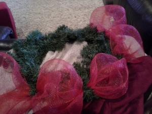 xmas wreath beginning